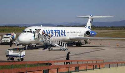 Aterrizaje emergencia vuelo de Austral