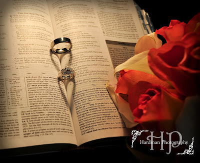 I came across plenty of examples of a wedding ring rings in a bible casting