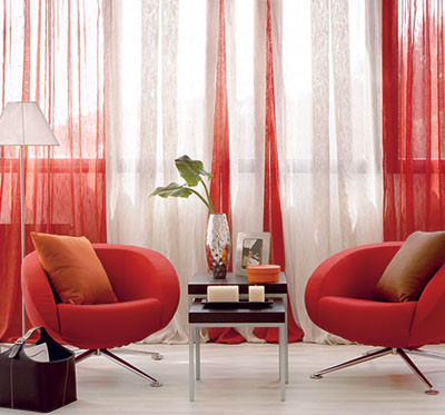 Algunas ideas de decoraci n con cortinas - Cortinas salon rustico ...