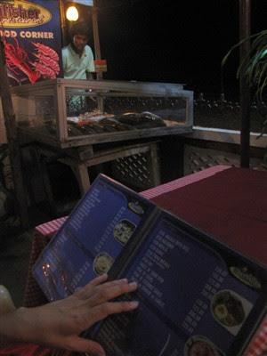 menu en kingfisher