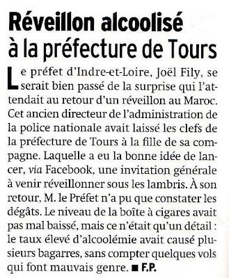 Nouba chez Joel Fily prefet d'Indre-et-Loire