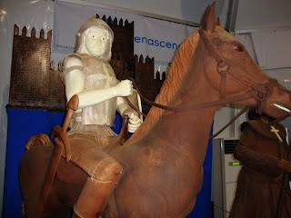 Cavalo e cavaleiro em Chocolate