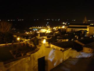 Visão distorcida da Vila de Óbidos - Provavelmente devido à ginginha