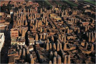 Casas Pigeon em Delta Mit Gahmr, Egipto
