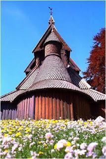 As casas na Lapónia são principalmente construídas de madeira