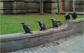 Esculturas de Pinguins em Écosse