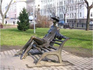 Escultura em Minsk Biélorussia