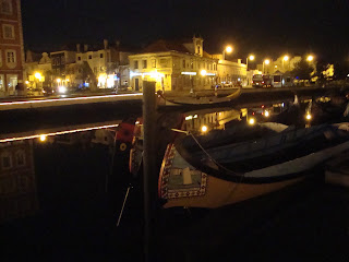 Rabelos Boats in Aveiro by night photo
