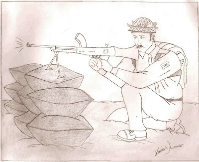 Penicl art of army man pencil drawing