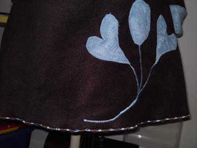 krinklet silke stoff