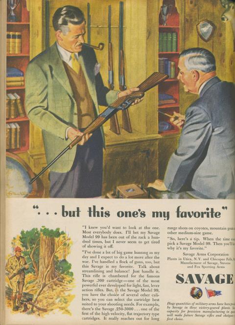 the old man of blood mountain  vintage gun ads