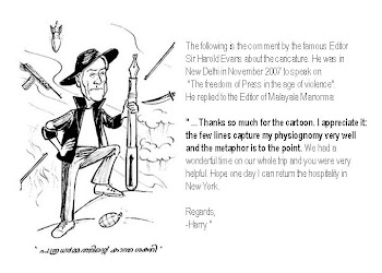 Harold Evans comments on Jos' Cartoon