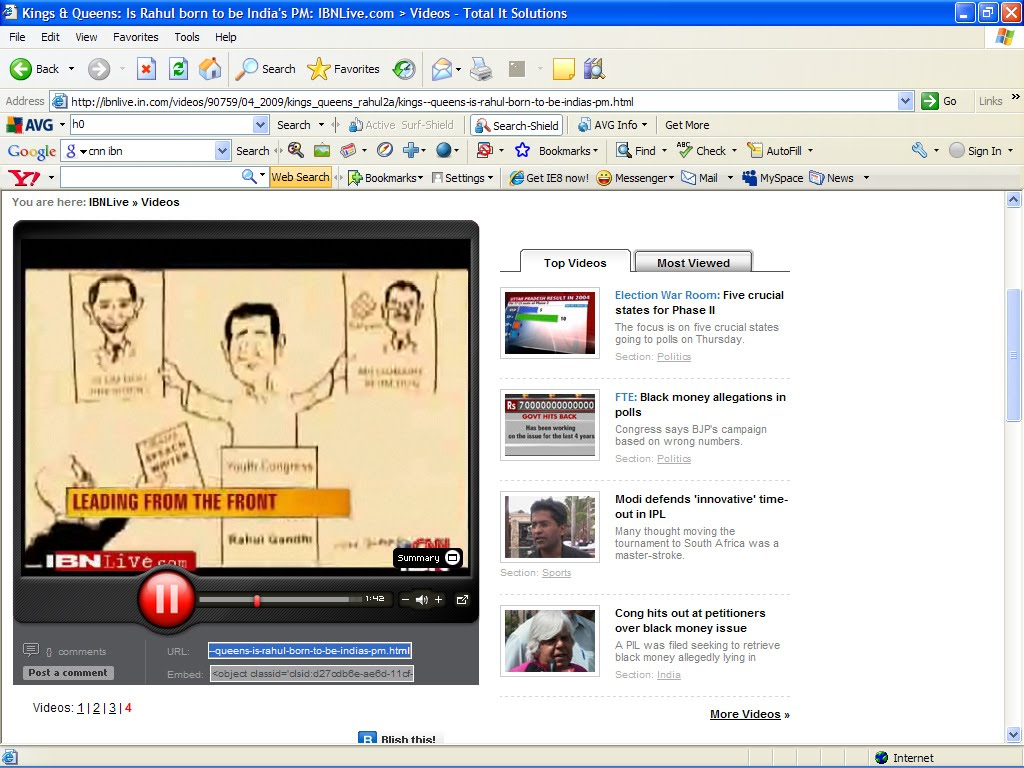 CNN IBN Online ON JOSE CARTOONS