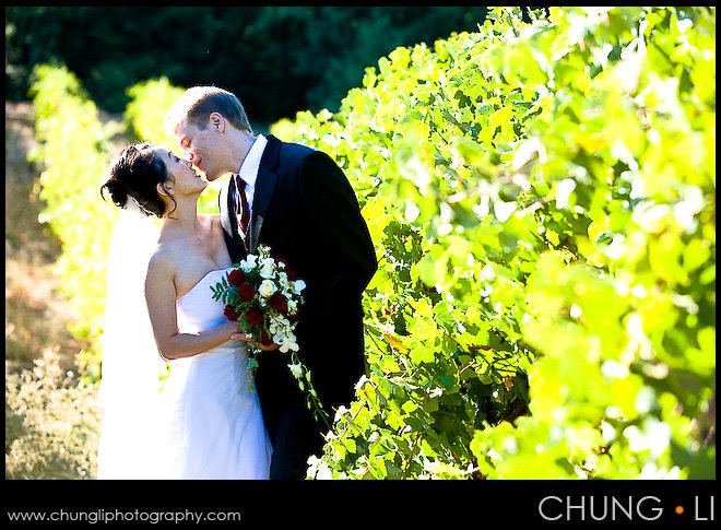 Los Gatos Byington winery vineyard wedding