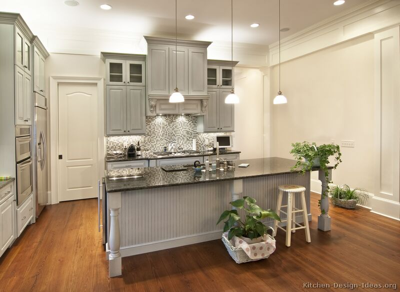 Here are some of my favorite spaces with grey wood work?
