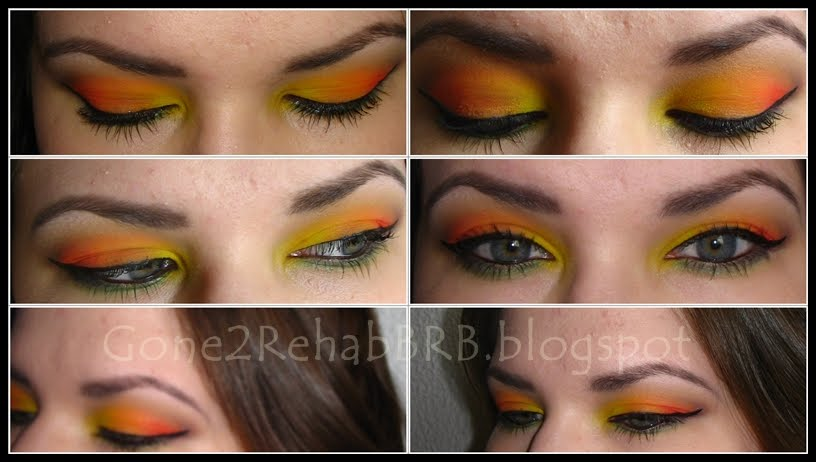 tequila sunrise makeup look