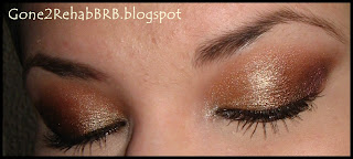 Sleek gold makeup look using the Storm i'divine eyeshadow palette