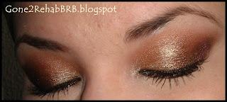 Sleek gold makeup look using the Storm i'divine eyeshadow palette