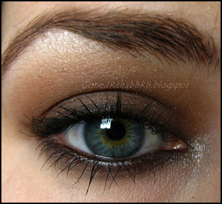 Brown chocolate make-up look