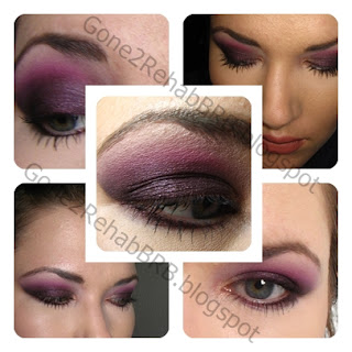 Sweetscent Midnight Burgundy Mineral Eyeshadow  Barry M Dazzle Dust in Cherry Red  the crease but layered over the blended-out Midnight Burgundywidth=