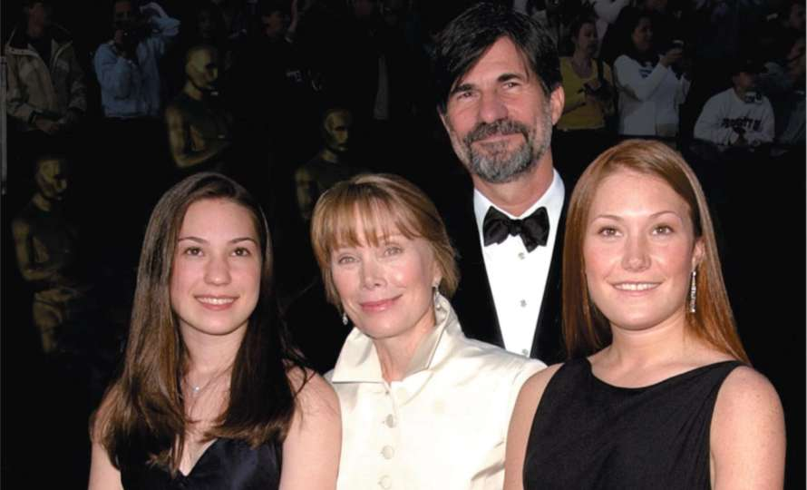 Jack Fisk, Sissy Spacek and their two daughters Schuyler and Madison.