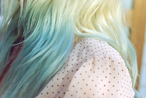 dipped dyed hair. Dip-dyed Hair, image source: