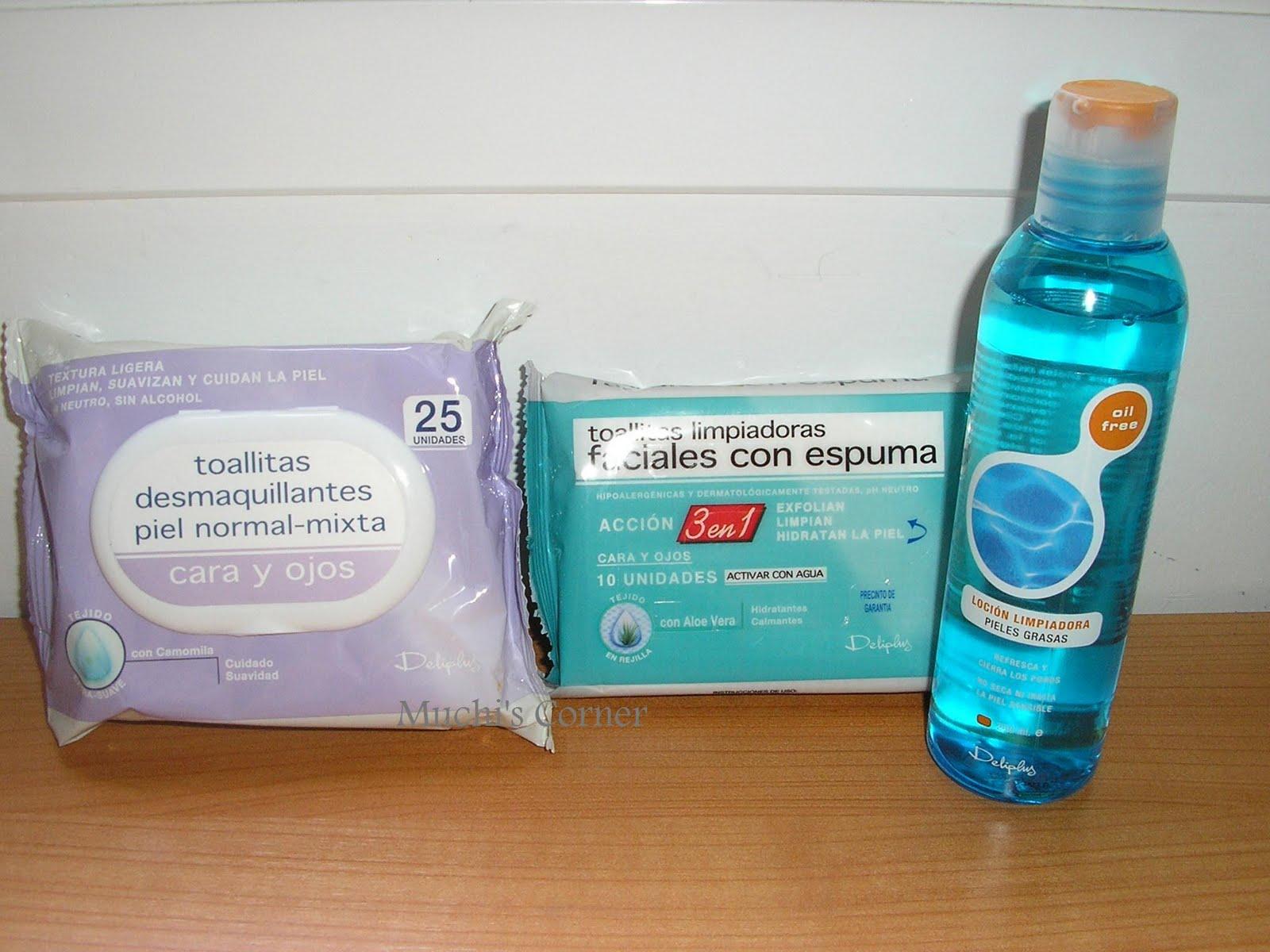 Muchi 39 s corner productos deliplus limpieza facial y for Productos limpieza coche mercadona