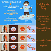 Sock Monkey Surfer Party