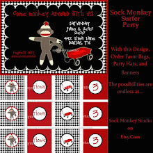Sock Monkey Wagon Party
