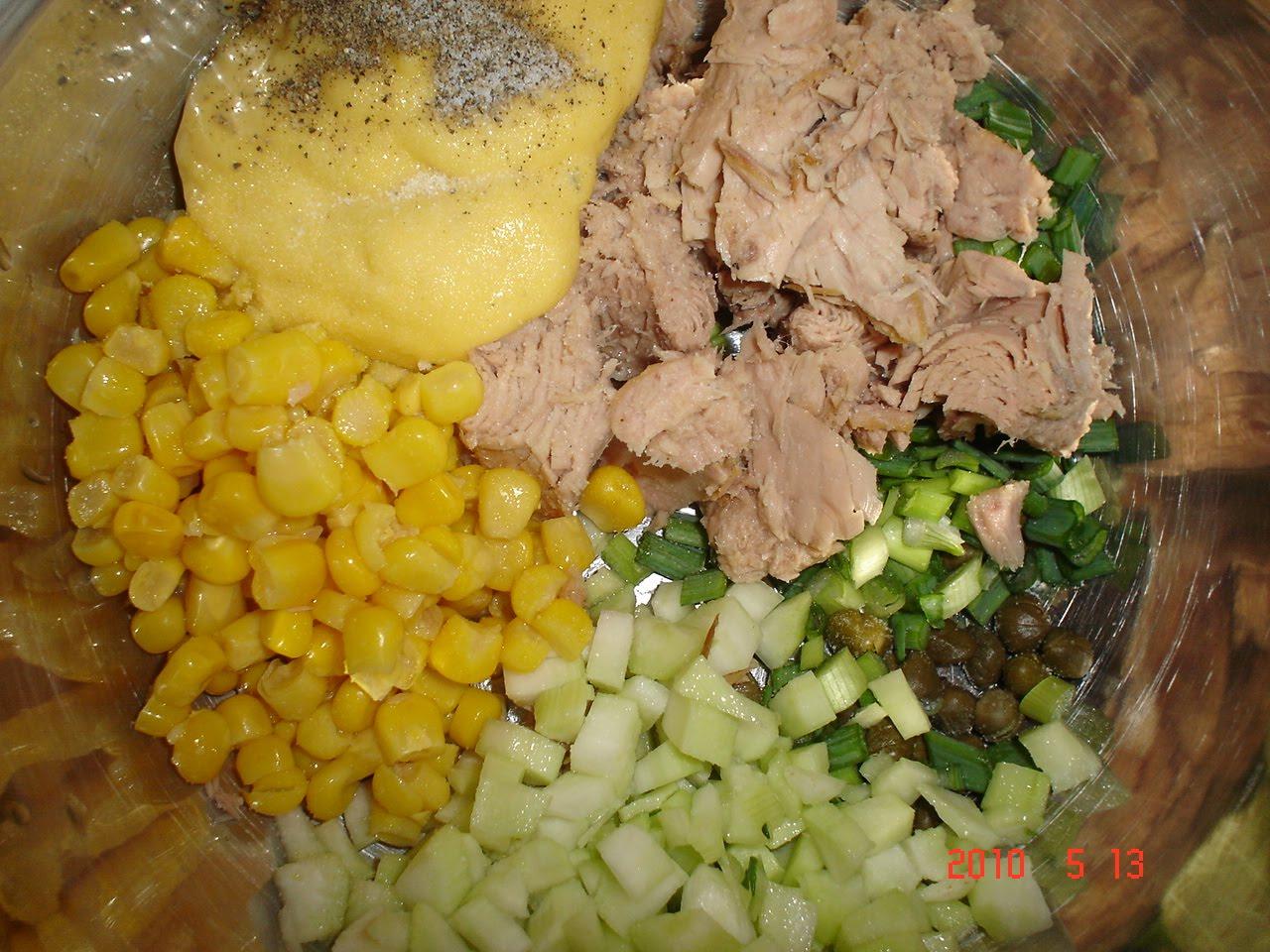 Salata ton cu telina