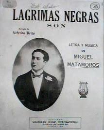 MIGUEL MATAMOROS Y LA PORTADA DEL LP DE LAGRIMAS NEGRAS