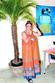 Aqui vemos a Doña Omara Portuondo en el Festival de Boleros..