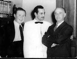 AQUI LO VEMOS JUNTO A SU MAESTRO JUAN DIAZ ANDRÉ Y SALOMÓN LERNER EN LIMA  1947