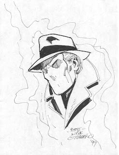 Dick Giordano sketch of the Question - a Charlton Comics character