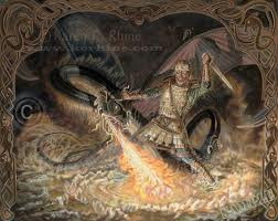 Beowulf vs Dragon