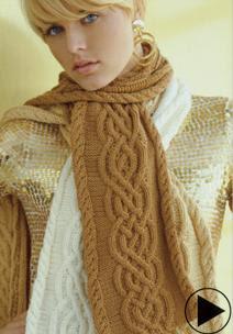 schiaparelli knit scarf