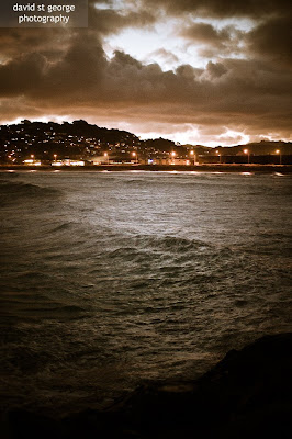 Lyall Bay Wellington Dramatic Weather David St George Photography