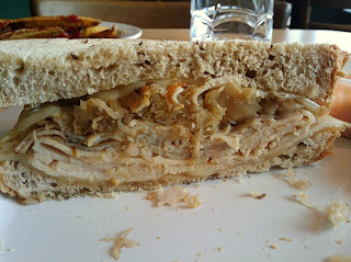 Side Shot of Turkey Reuben Sandwich