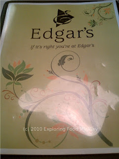 Edgar's Menu Page 1