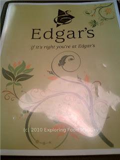 Edgar's Menu Page 1