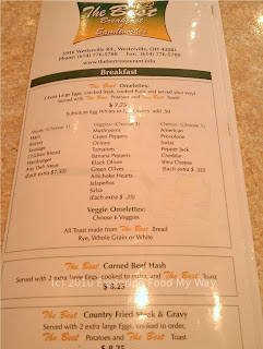 Best Breakfast's Menu Page 1