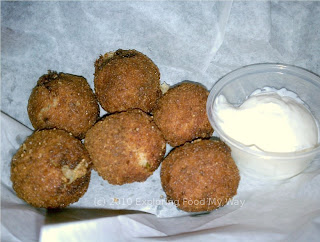 Sauerkraut Balls with Horseradish Sour Cream