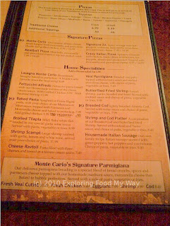 Monte Carlo's Menu Page 3