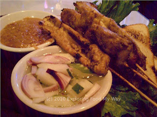 Chicken Satay with Grilled Bread