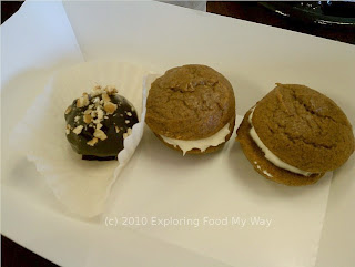 Pumpkin Whoopie Pies and Red Velvet Cake Bite