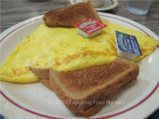 Western Omelet with Whole Wheat Toast