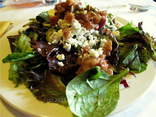 Mixed Greens Salad with Warm Bacon Vinaigrette