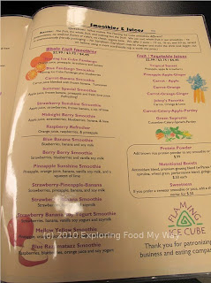 Flaming Ice Cube's Menu Page 7