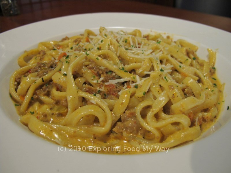 ... Pasta Bolognese was being offered, I knew that was what I would be