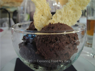 Dark Chocolate Mousse with Parmesan Tuille